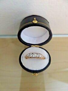 Vintage 18ct Gold Elegant 5 Diamond Eternity Ring Size O