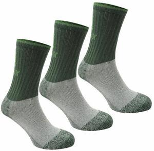 Karrimor Mens Heavyweight Boot Socks Trekking Green 3 Pairs Size 7 to 11 New