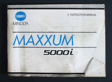 MINOLTA MAXXUM 5000I INSTRUCTION MANUAL