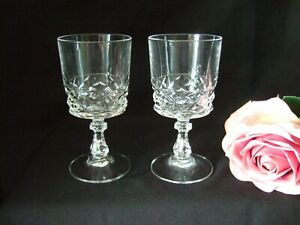 Pair of Lead  Crystal 11.5cm  Sherry Port Glasses