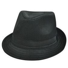 FEDORA TRILBY POLY HAT BLACK CHECKERED SMALL MEDIUM