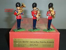 BRITAINS 00292 SCOTS GUARD BAND BASS TENOR SAXOPHONE EUPHONIUM TOY SOLDIER SET