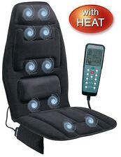 Massage Seat Cushion Car Chair Homedics Home Heat Lumbar Back Neck Thigh Stress