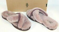 UGG Australia 1017548 Women Abela Sheepskin Slide Slippers Pink DUS 8