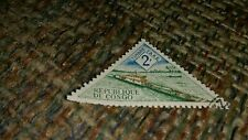 Vintage Cancelled stamp Republique Du Congo Timbre Taxe 2F Unknown Foreign Rare