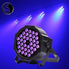72W 36 UV LED Black Light DMX512 Flat Par Stage Lamp Club DJ Bar Party Light