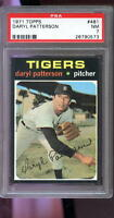 1971 Topps #481 Daryl Patterson Detroit Tigers NM PSA 7 Graded Baseball Card
