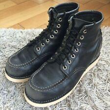 RED WING Moc Toe 8130 Worker Boot 40 Schwarz Black 7,5 NEUE SOHLE Leder Stiefel