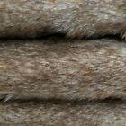 "24"" x 56"" Brown Tipped Teddy Bear Fabric Fur Crafts Artist Designer Vintage"