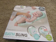 Summer Infant Deluxe Baby Bather Folding Bath Sling , Whales and fish new