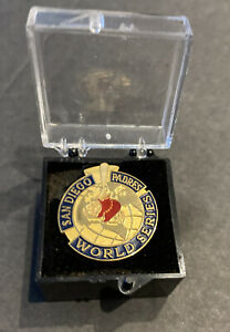 1998 SAN DIEGO PADRES WORLD SERIES PRESS BASEBALL PIN IN ORIGINAL CASE~FREE SHIP