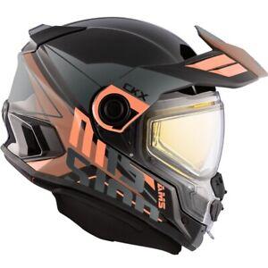 CKX AMS Mission Ramble Orange / Brown Helmet