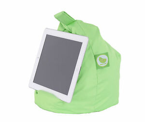 Outdoor Lime iPad,Book,Tablet & eReader Cushion Bean Bag Pillow Stand: BeanLazy