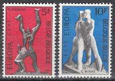 Belgique / Belgien Nr. 1766-1767** Europa 1974 / Skulpturen