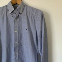 Mens Lacoste Striped Shirt Size 38 Medium Slim Fit Long Sleeve Casual Formal Top