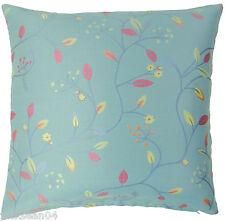 Azul Rosa Tejido Flor Floral Hoja Hojas Funda de cojín 45.7cm-45cm Siri
