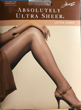 Hanes BARELY THERE Control Top Sandal Toe ULTRA SHEER  PANTYHOSE SZ C 125-150lbs