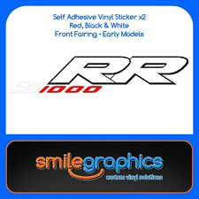 BMW S1000RR Fairing Decals Black Red white Stickers early model 3