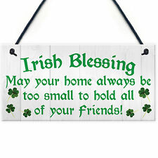 Irish Blessing Friendship Novelty Hanging Plaque Lucky Home St Patricks Day Sign