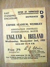 Tickets- 1955 International Match ENGLAND v IRELAND, 2 Nov 1955- Wembley (Org)