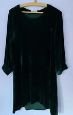 Brora Forest Green Silk Velvet Dress 10