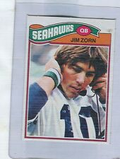 1977 Topps Mexican  Blank Back  JIM ZORN  Seahawks  ROOKIE