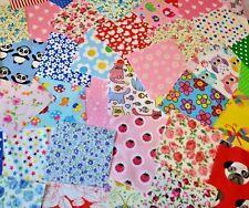 MIXED POLYCOTTON FABRIC SCRAPS SAMPLES SQUARES OFFCUTS CHOOSE SIZE & QUANTITY