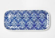 Threshold Melamine Plate Blue & White Mosaic Design Rectangular Serve Platter