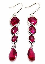 Silver Ruby 12.4ct Drop Earrings 925
