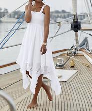 Ashro Sienna Dress White Summer NEW NWT Size 14 Smocked Bodice