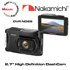 Nakamichi ND28 - 2.7'' TFT-LCD High Definition Car DVR, Wide Angle Lens DashCam