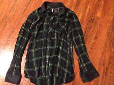Rails Plaid Flannel Long Sleeve Button Down Shirt Top Size S