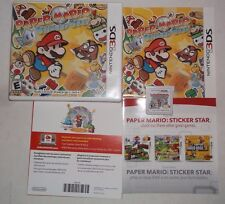 Paper Mario: Sticker Star (Nintendo 3DS, 2012) COMPLETE w/ Manual