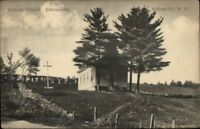 Jeffersonville NY Catholic Church c1910 Postcard