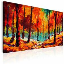 100% Handgemalt Gemälde Bilder Leinwand Wald Landschaft 120x80 c-B-0169-b-a_MK