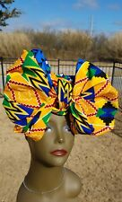 Yellow Kente Headwrap; African Headwrap; African Clothing; African Fabric; Wrap