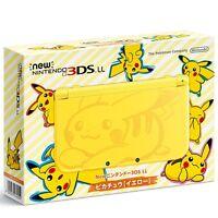 NEW Nintendo 3DS LL XL Console Pikachu Yellow Pokemon Japan Limited Model