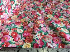 FLORAL #SD-035/1 IN ROSE, PINK & YELLOW FOR HOBBY LOBBY- COTTON---BY THE YARD