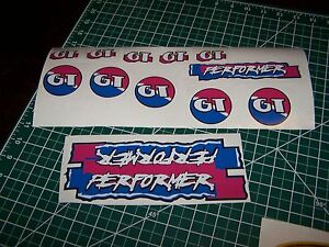 GT PERFORMER DECAL SET 86 87 88 VINTAGE BMX