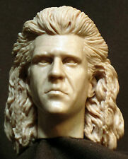 "Tête. Custom Mel Gibson WILLIAM WALLACE head sculpt  Figurines 1:6, 12"" A54"