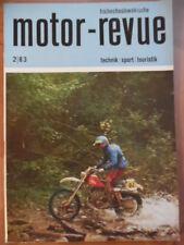 Tschechoslowakische MOTOR REVUE 2- 1983 Motocross Jawa 210 babetta Jawa-Day AVIA