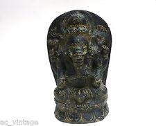 Ganesha Elefantengott Gott Ganapati schwarze Steinfigur Lavastein Elefant