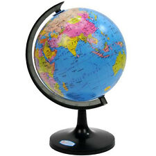 15cm Rotating World Map Globe Desktop Home Decor Ocean Geography Earth Kids Toys