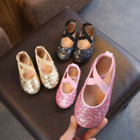 Toddler Kids Baby Infant Girls Sequins Bling Princess Casual Shoes Dancing Shoes