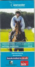 Racecard - Worcester 24th July 2013