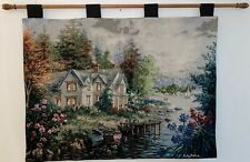 Bays Landing House by Lake Tapestry Wall Hanging  -  Nicky Boehme