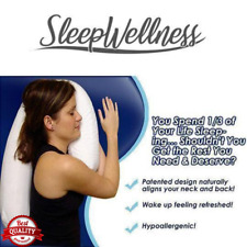 SLEEPWELLNESS™ ORTHOPEDIC SIDE SLEEPER ALIGNMENT PILLOW VS NECK AND BACK PAIN