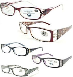 Ladies Fancy Diamantes Rhinestone Detailed Reading Glasses Selection +0.50~+3.75