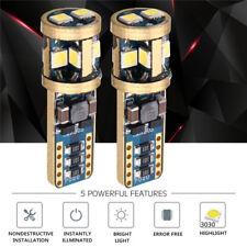 2x T10 168 194 W5W 3030 LED 10 SMD 6000K Canbus Xenon White Light Bulb Lamp 12V