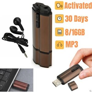Mini Voice Activated Recorder Spy Listening Device Audio Microphone MP3 Player
